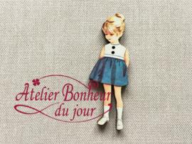 Atelier Bonheur du Jour - Fillette jupe bleu