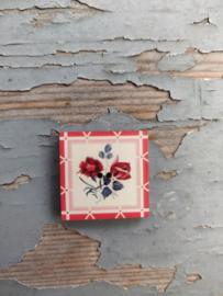 Atelier Bonheur du Jour -  Digoin - vierkant rood