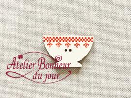 Atelier Bonheur du Jour - Bol frise rouge (Kom rood)