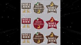 "Twinpeak Primitives - ""Rustic Christmas Series Triplets"""