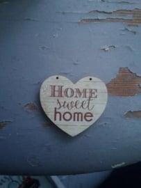 """Atelier Bonheur du Jour - Hart """"Home Sweet Home"""""""