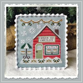 "Country Cottage Needleworks - Snow Village - ""Frozen Hot Chocolate Shop"" (nr. 5)"