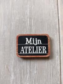 "Atelier Bonheur du Jour - Knop ""Mijn Atelier"""