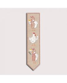 Le Bonheur des Dames - réf. 4714 - Kippen - Boekenlegger (borduren)
