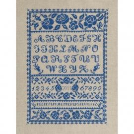 DMC - BK1051 - Blauwe bloemen ABC