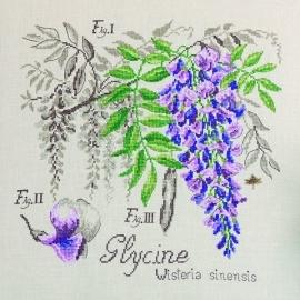 Les brodeuses Parisiennes - Etude à la Glycine (lin)