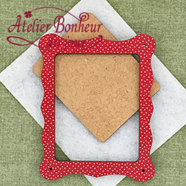 Atelier Bonheur du Jour - Houten kader (rechthoekig rood)