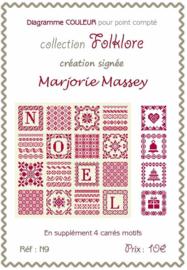 Marjorie Massey - Coussin Noël (kerstkussen)