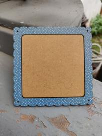 Atelier Bonheur du Jour - Houten kader (vierkant blauw)
