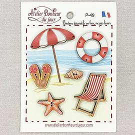 """Atelier Bonheur du Jour -  """"Bain de soleil rouge"""" (P-49)"""