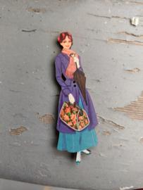 Atelier Bonheur du Jour - Dame met blauw kleed en tas