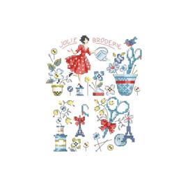 Les Brodeuses Parisiennes - Jolie Broderie (patroon)