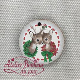 """Atelier Bonheur du Jour -  """"Médaillon met hertjes"""""""
