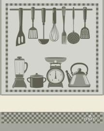 DMC - Torchon - Cuisine (gris)