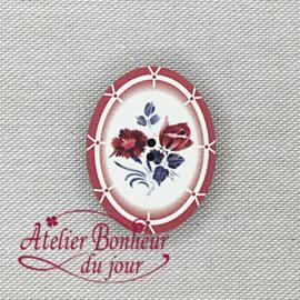 Atelier Bonheur du Jour -  Digoin - ovaal rood