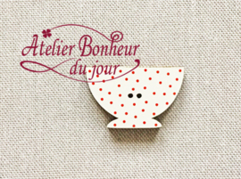 Atelier Bonheur du Jour - Bol pois rouge (Kom rood)