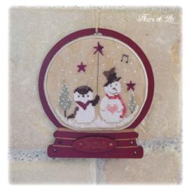 """Fleurs de lin - Boule à neige - """"Snow in Winter"""""""