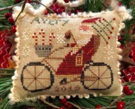 "Homespun Elegance - Merry Noël Collection ""Avery's Cycling Santa"""