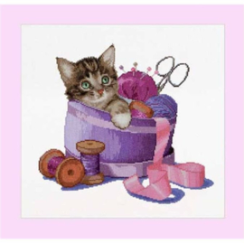 Thea Gouverneur - ref. 736A - Sewing Basket kitten