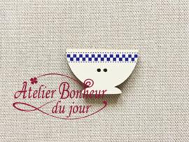 Atelier Bonheur du Jour - Bol damier bleu (Kom blauw)
