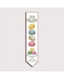 Le Bonheur des Dames - réf. 4712 - Macarons - Boekenlegger (borduren)