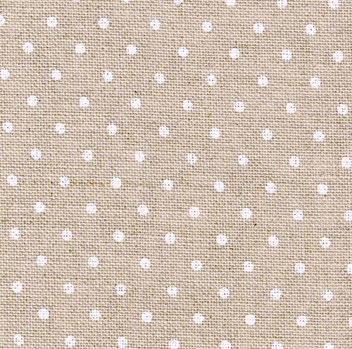 Zweigart - Belfast (12.6 dr/cm - 32 ct) - kleur 5379 - Petit Point (naturel met wit bolletje)
