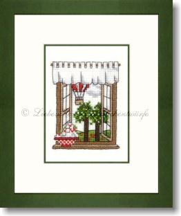 Liebevolle Kreuzstichentwürfe -  M-385-16 - Sommerfenster