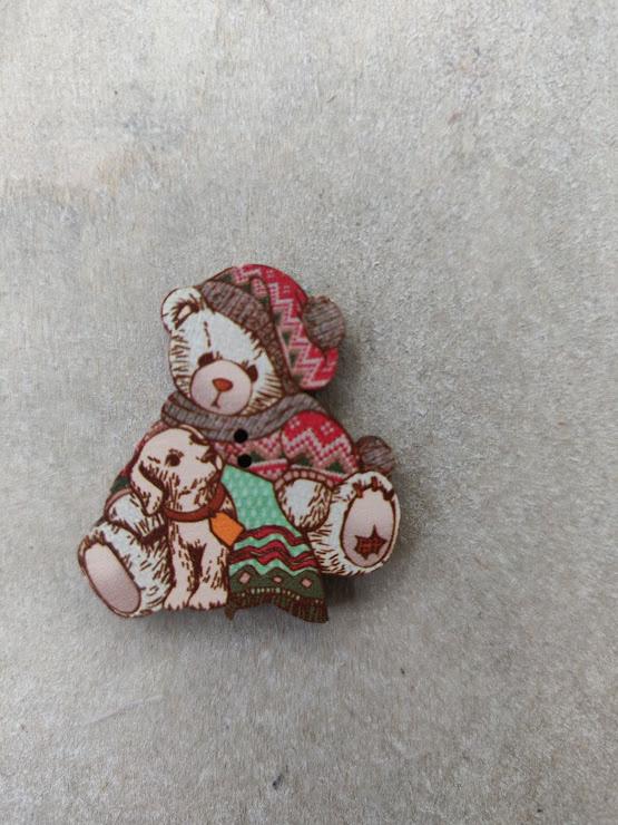 "Atelier Bonheur du Jour -  Teddybear ""met hondje"""
