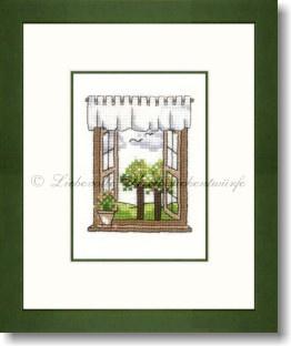 Liebevolle Kreuzstichentwürfe -  M-384-16 - Frülingsfenster