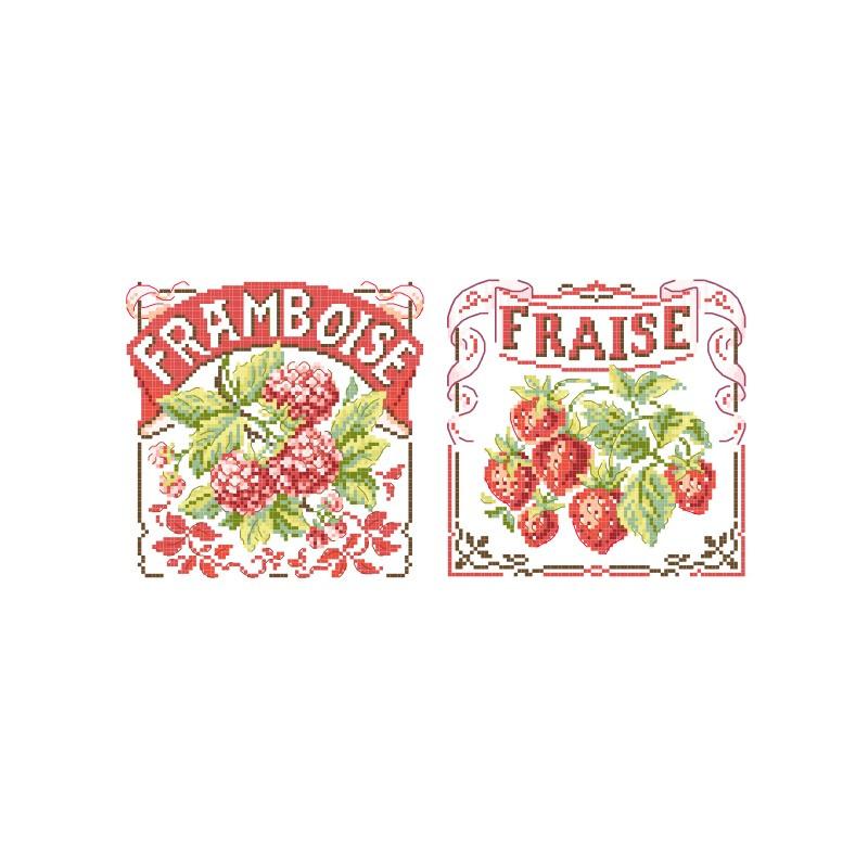 Les Brodeuses Parisiennes - Fruits Rouges (grille)
