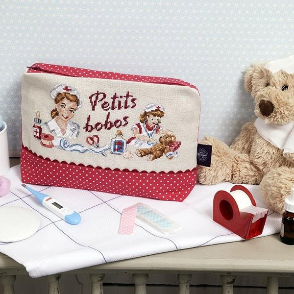 """Les Brodeuses Parisiennes - Trousse """"Petits bobos"""" (linnen)"""