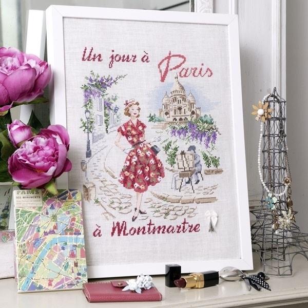 Les brodeuses Parisiennes - Un jour à Paris à Montmartre (linnen)