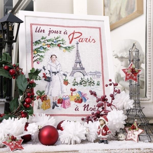 """Les Brodeuses Parisiennes - Un jour à Paris à Noël""""  (linnen)"""