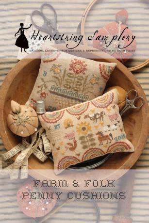 Heartstring Samplery - Farm & Folk Penny Cushions