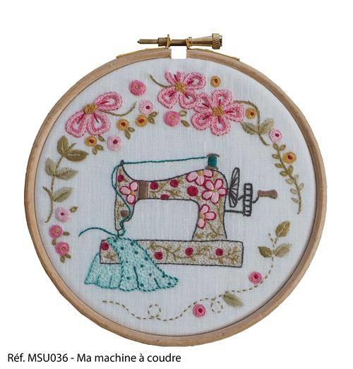 Marie Suarez - Mijn naaimachine (borduren/stitchery)