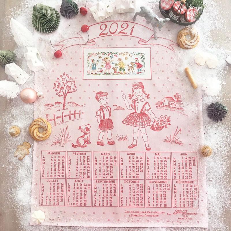 """Les Brodeuses Parisiennes - Torchon de Noël """"Calendrier 2021"""""""