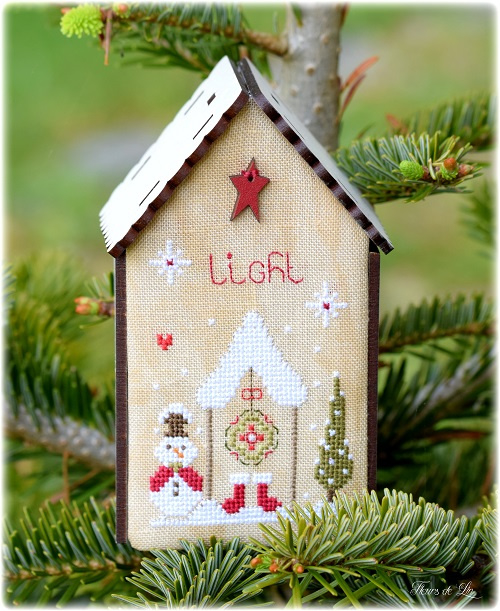 Fleurs de lin - Nichoirs de Noël I (Vogelhuisjes - kerst)
