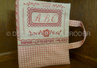 Des Histoires à broder - Liseuse ABC (overtrek voor boek) (patroon)