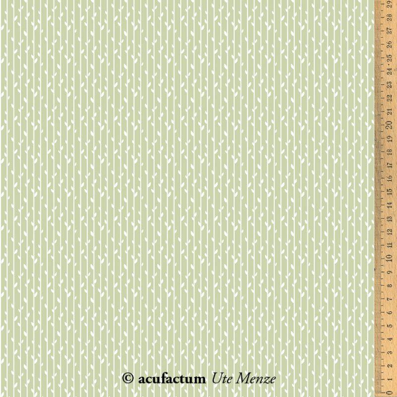 """Acufactum tissus - Blätterstreifen """"Vert"""""""