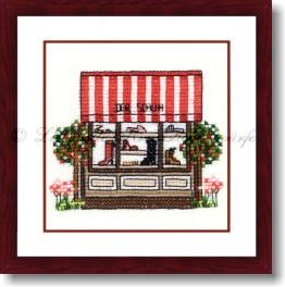 Liebevolle Kreuzstichentwürfe -  M-304-12 - Schuhlädchen