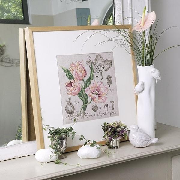 Les Brodeuses Parisiennes - Etude à la Tulipe (aïda)