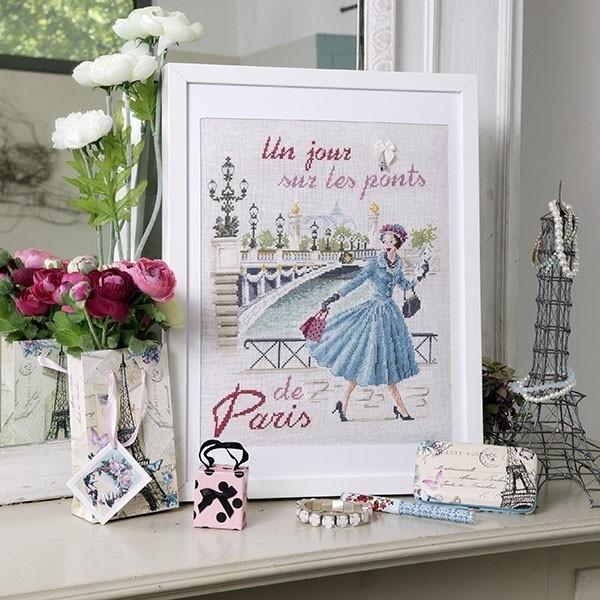 Les Brodeuses Parisiennes - Un jour sur le pont Alexandre III (linnen)