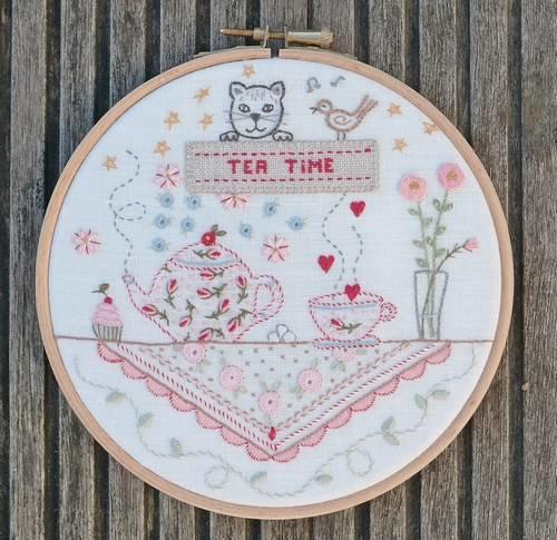 Marie Suarez - Tea Time (borduren)