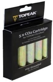 Co2 patronen Topeak 5 stuks met draad