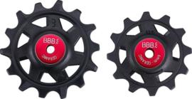 BBB Derailleurwieltjes Ceramic 12T - 14T Set BDP-17 - Zwart