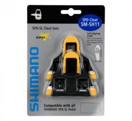 Shimano SM-SH11 SPD-SL geel 6 graden