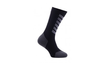Sealskinz MTB Mid Mid Sock With Hydrostop Black Charcoal