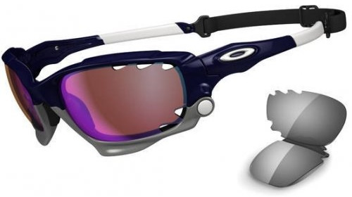 Oakley Racing Jacket Polished Navy Blue Iridium