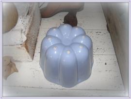 frans blauwe puddingvorm  VERKOCHT