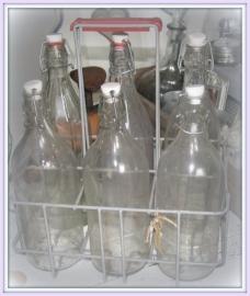 flessenrek met flessen           VERKOCHT